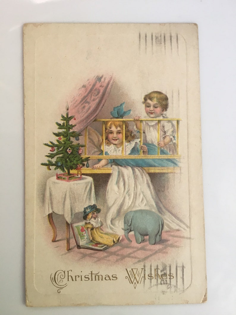 Antique Christmas Postcards Three Vintage Christmas Postcard from the 1910s
