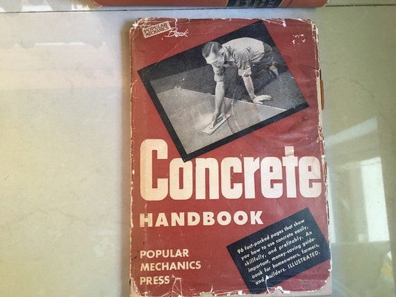 Vintage Popular Mechanics Book Concrete Handbook 1943 Etsy