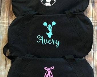 18 Personalized sports duffle bag with name wedding bag karate soccer bag  dance bag sports bag ballet bag cheer bag fb4ad57de0141