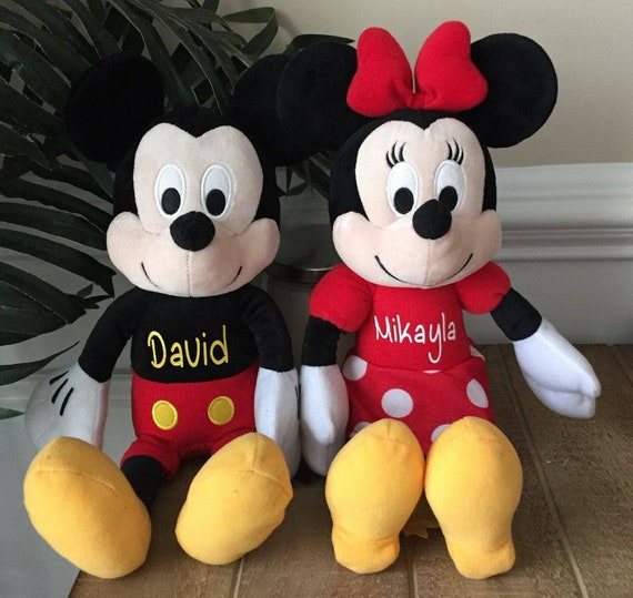 20 Personalized Mickey Mouse Stuffed Animal Minnie Mouse Etsy