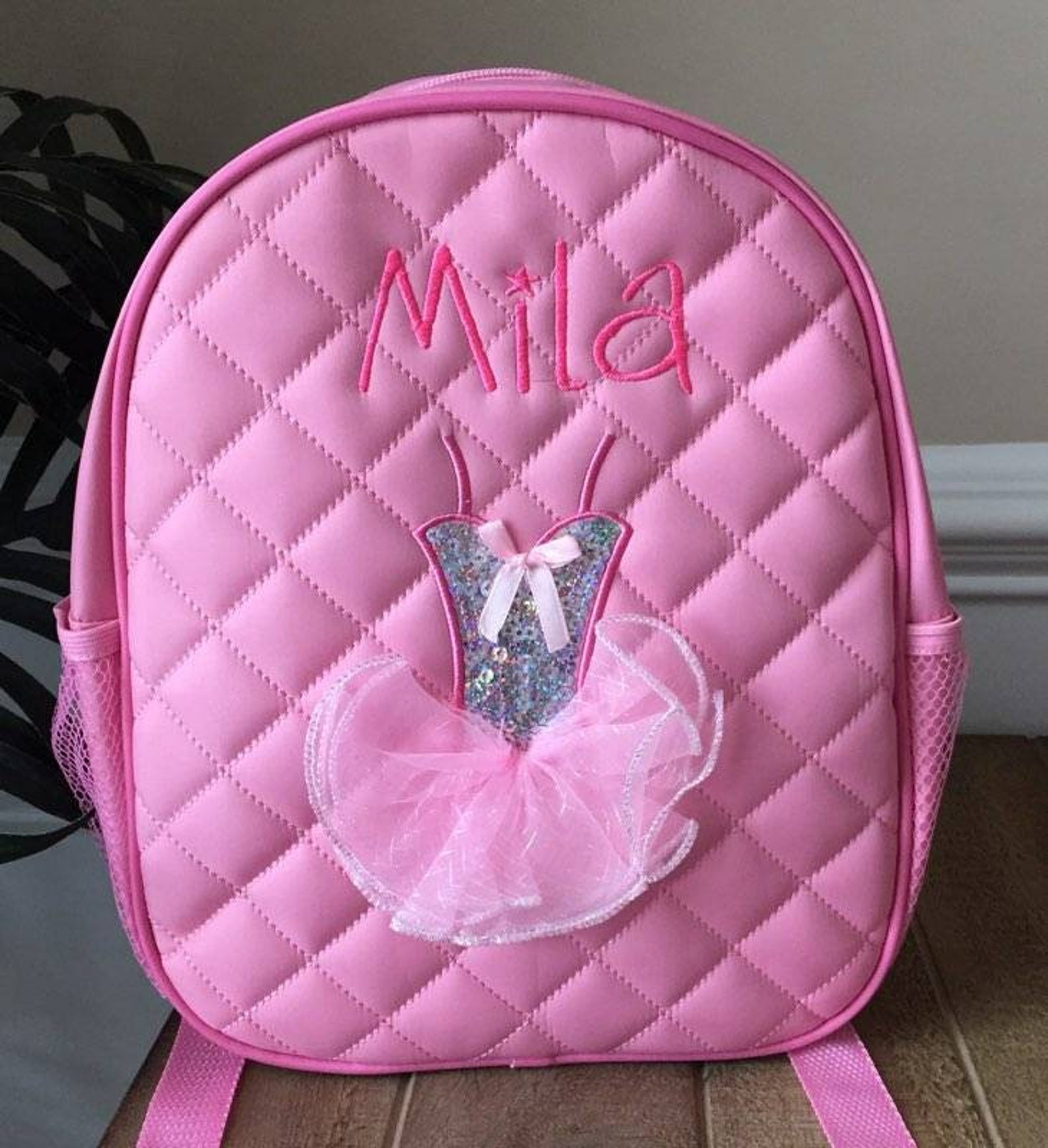 personalized dance backpack ballet shoe tutu backpack embroidered