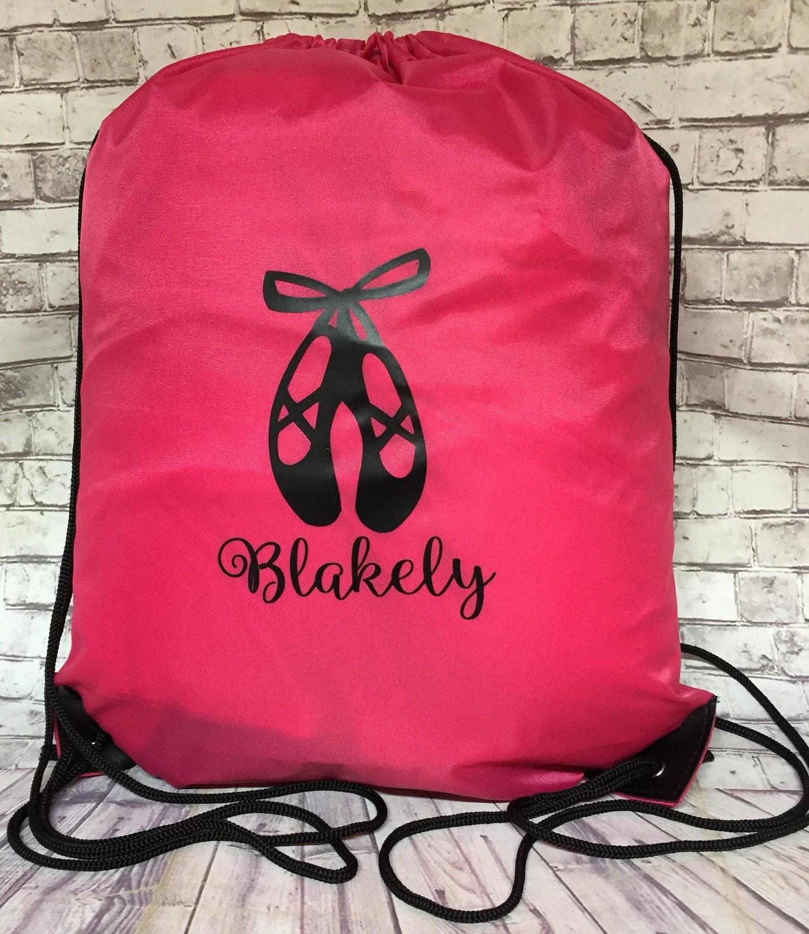personalized ballet shoes drawstring bag mario mermaid sports bag soccer batman emoji with name mickey minnie mouse