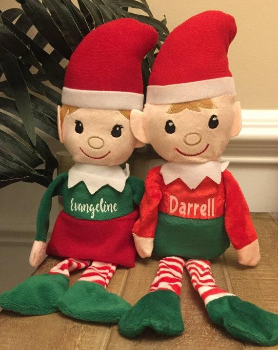 Personalized Christmas Elf Stuffed Animal Christmas Gift Etsy
