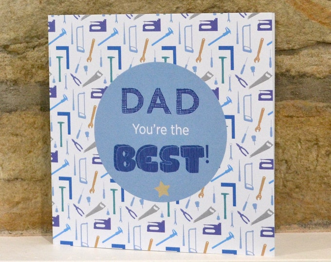 Featured listing image: Best Dad Father's Day card