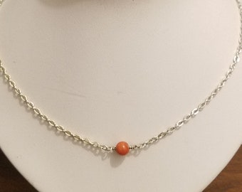 Light chain with Coral bead