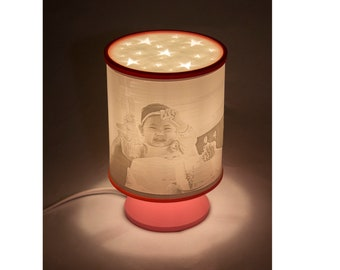 Personalized 3D Printed Lithophane Table Lamp - Custom Top Cover