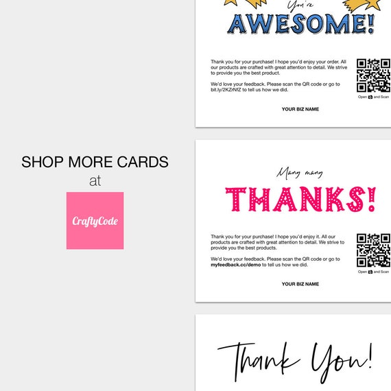 18b6fdf5a66ec Social Media Cards | Follow Me Package Inserts | Printable Card For Social  Network | Let's Connect! | [NQR]