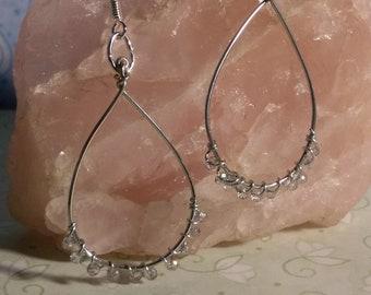 Handcrafted Teardrop Beaded Dangle Earrings