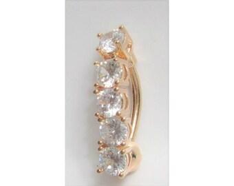 Rose Gold Titanium Barbell VCH Hood Clit Clitoral Genital Ring 14 gauge 11 mm