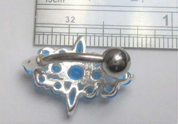 VCH Jewelry Surgical Steel and Sterling Silver VCH Jewelry Hood Cover Black Marquise Gem Christina Barbell 14 gauge 14g Intimate Jewelry