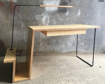 Desk with a lamp