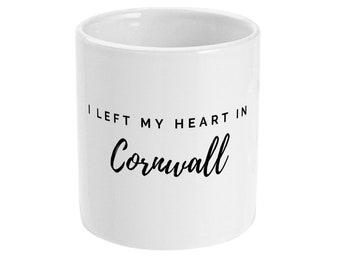 I left my heart in Cornwall gift mug