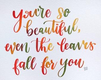 Fall Pun Print | Watercolor art print | Digital Art Print | Fall | Autumn | Puns