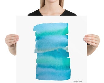 Abstract Wash | Ocean Art | Blues and Greens | Nature Inspired | Beach House Decor