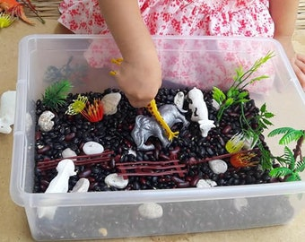 Farm & Dinosaur Sensory Busy Box for Toddler