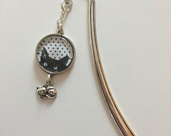 Silver cat bookmark