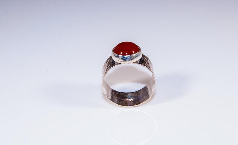 Carnelian ring in sterling silver