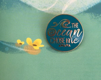 Moana inspired enamel pin, Teal