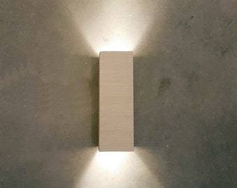Indoor wall sconce lighting Commercial Wall Modern Handmade Ceramic Led Wall Light Up Down Cube Indoor Wall Sconce Lighting Lamp Fixture Etsy Wall Sconce Lighting Etsy