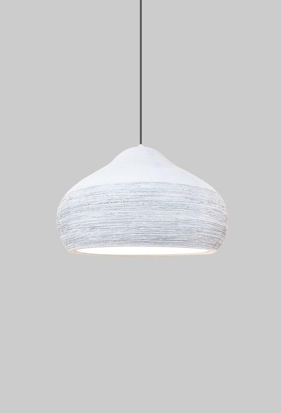 Pendant Lighthanging Lightceramic Off White Lamp Etsy