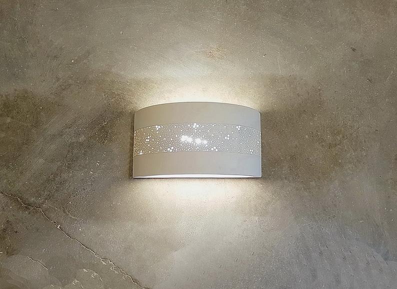 Lampada parete decorativo paralume in ceramica applique da etsy