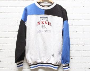 Vintage 90s Dallas Cowboys Super Bowl XXVII Champions Sweatshirt f876faaae