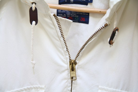 Vintage 80's Ralph Lauren White Full-Zip Nautical… - image 4