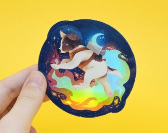 Spacedog Holographic Sticker