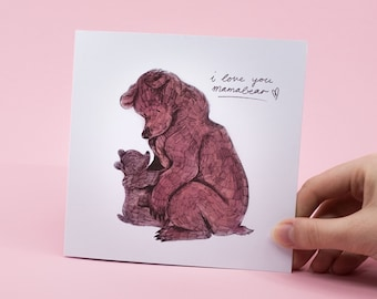 Mammabear Greeting Card