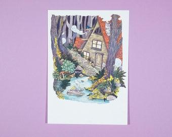 Ghost Woods RISO Print