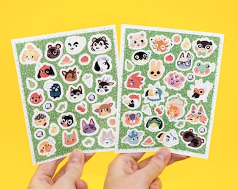 Animal Crossing inspired Sticker Sheet