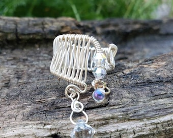 Woven wire adjustable ring.