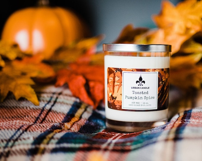 Toasted Pumpkin Spice Soy Candle | Fall | 14 oz