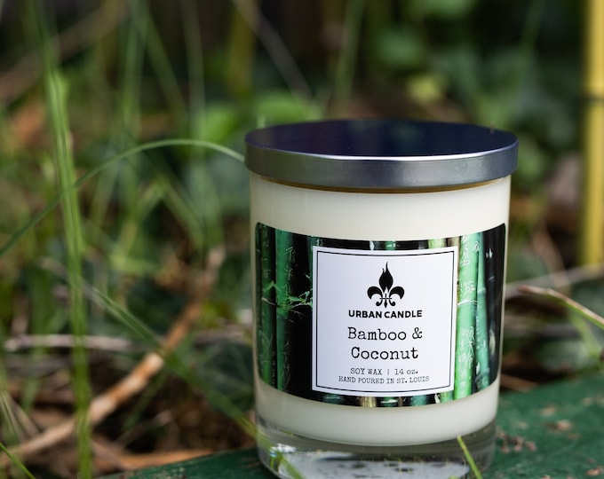 Bamboo & Coconut Soy Candle | 14 oz