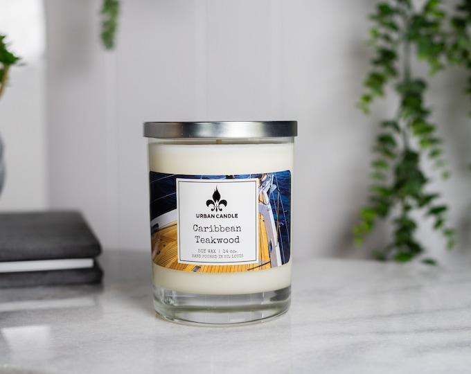 Caribbean Teakwood Soy Candle | 14 oz