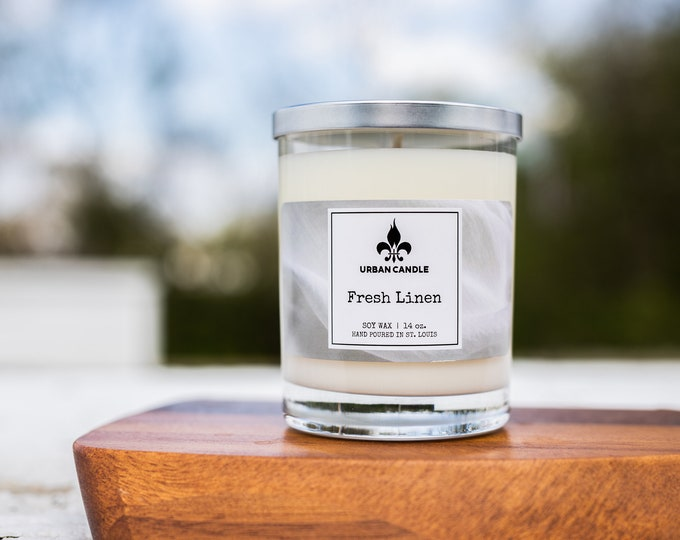 Fresh Linen Soy Candle | 14 oz