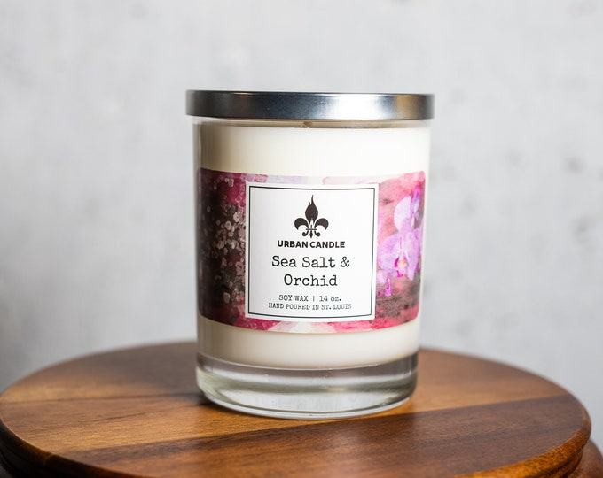 Sea Salt & Orchid Soy Candle | 14 oz