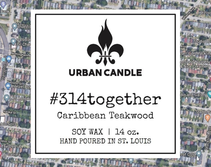 314together Caribbean Teakwood Soy Candle | 14 oz