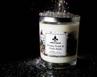 Faith, Trust & Pixie Dust Soy Candle | Black Currant Absinthe 14 oz.