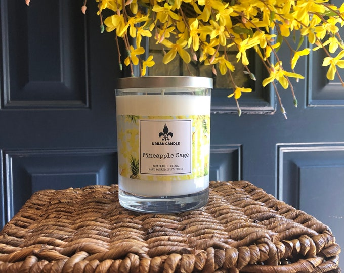 Pineapple Sage Soy Candle | 14 oz