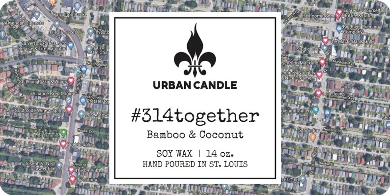 14 oz 314together Bamboo /& Coconut Soy Candle