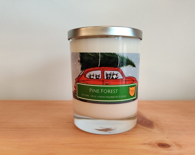 Tenth Life - Holiday Pine Forest - Soy Candle | 14 oz.