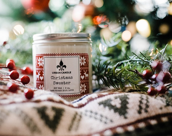 Christmas Sweater - Holiday - Soy Candle | 9 oz.