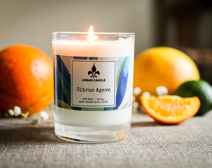 Citrus Agave soy candle | 14 oz
