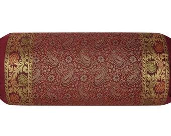 Bed Decor Cylindrical Pillowcase Silk