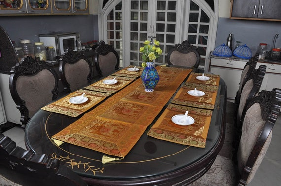 Table Placemats Set Kitchen Dining Room Table Runner Table Etsy
