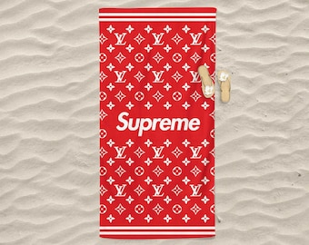 72ad43386bf96 Supreme Louis Vuitton Pattern Theme Custom Printed Beach Towel