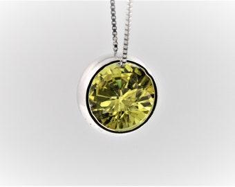 necklace, birthday stone, handmade 925 silver