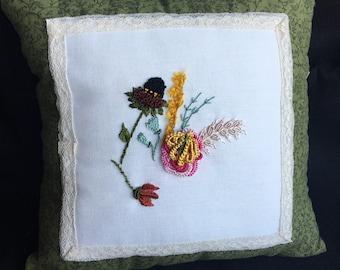 Phebie Day Designs Brazilian Embroidery Dream Pillow - 9x9