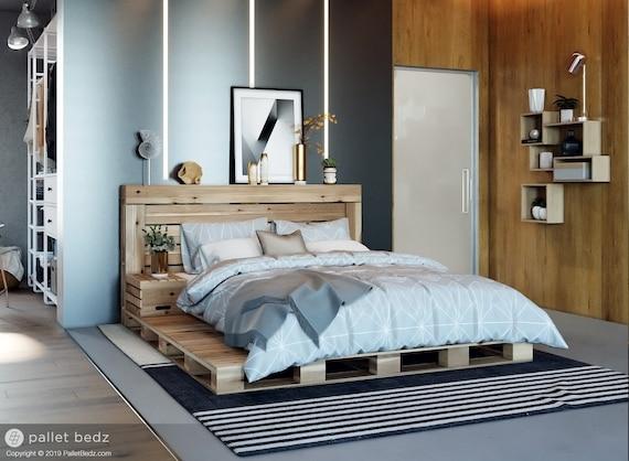 Spiksplinternieuw Pallet Bed The Oversized Queen Includes Headboard and | Etsy BE-61